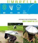 采茶傘可背式遮陽傘防曬背傘雙層大號釣魚傘戶外垂釣頭頂雨傘帽子  全網最低價