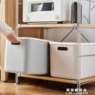 帶蓋塑料收納箱整理箱書本零食化妝品儲物盒衣櫃內衣物收納盒 果果輕時尚NMS