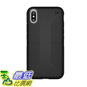 [7美國直購] 手機保護殼 Speck Products Presidio Grip Case for iPhone X, Black/Black