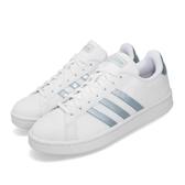 adidas 休閒鞋 Grand Court 白 藍 女鞋 運動鞋 小白鞋 皮革【PUMP306】 EE8175