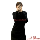 法式小黑裙打底包臀連身裙子早秋女裝緊身短裙秋裝【CH伊諾】