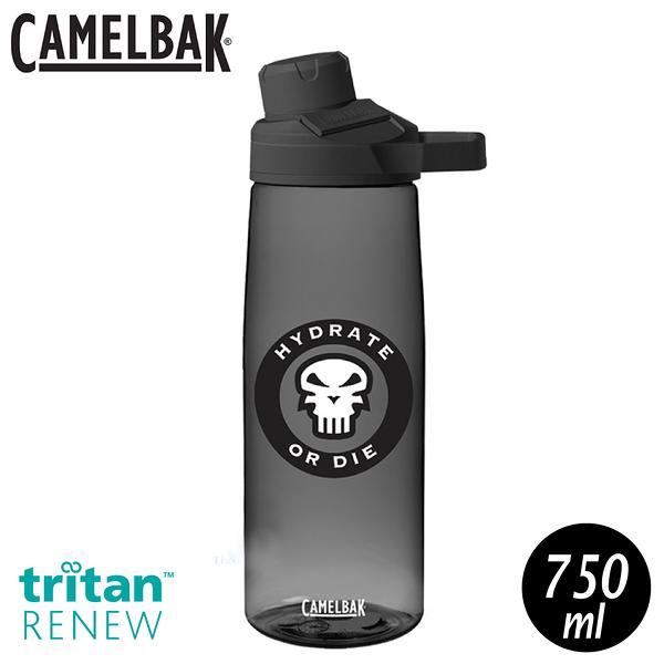 【CamelBak 美國 750ml Chute Mag 戶外運動水瓶RENEW《骷髏黑》】CB2470002075/水壺