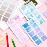 【BlueCat】櫻花星空可撕索引貼紙(60枚)