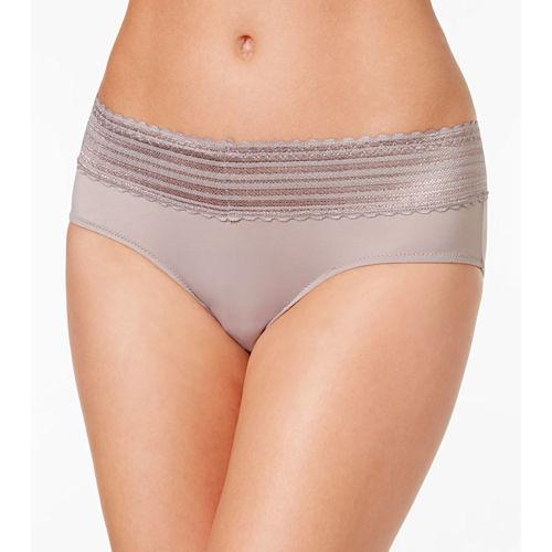 Warners 女精緻蕾絲腰帶內褲(水貂色2件)