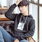 款長袖上衣服潮流學生韓版連帽衫外套季男士連帽T恤 卡卡西