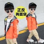男童秋冬外套2019新款中大童裝夾克6男孩兒沖鋒衣5運動8洋氣13歲