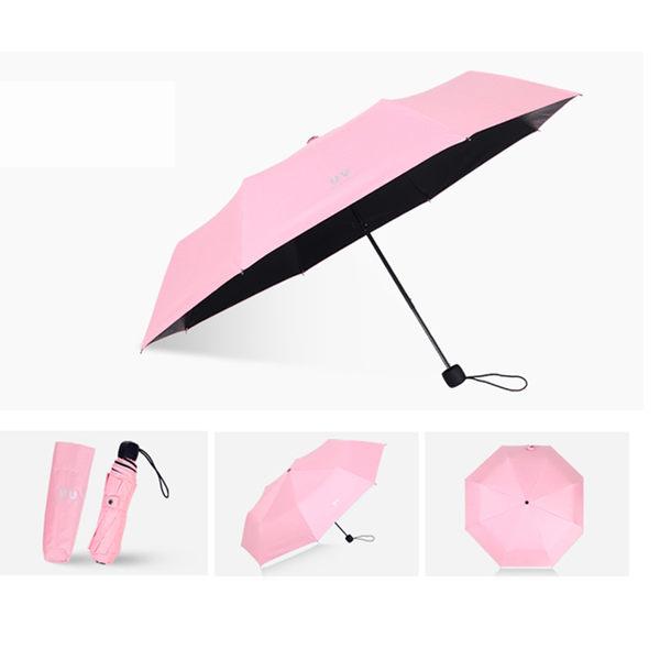 PUSH! 好聚好傘 雨傘遮陽傘晴雨傘三摺傘折疊傘(100CM)I66