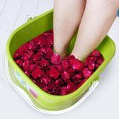 茶花按摩泡腳桶塑料洗腳桶 洗腳盆 足浴盆 塑料桶【免運直出】