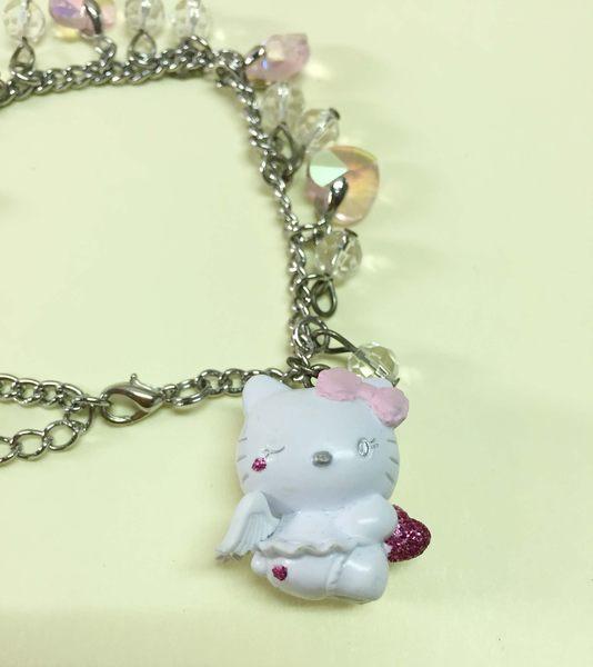【震撼精品百貨】Hello Kitty 凱蒂貓~手環/手鍊-心天使造型