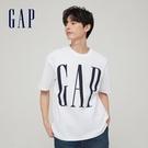 Gap男裝 Logo純棉質感厚磅短袖T恤 795473-白色