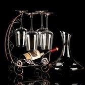 歐式醒酒器家用6只裝玻璃加厚大號葡萄酒杯高腳杯 LQ2989『夢幻家居』