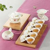萬道德化整套玉瓷白瓷家用功夫茶具套裝家用茶杯14件 js14301『紅袖伊人』