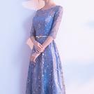 (45 Design) 長洋裝晚禮服禮服晚宴長禮服e黑色長禮服伴娘服中長禮長裙婚禮洋裝7