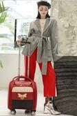迷你行李箱輕便拉桿包手提行李包女韓版登機拉桿箱16寸皮箱小清新 YDL