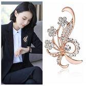 週年慶優惠-水晶胸針胸花韓國版女西裝領別針時尚首飾品生日禮物
