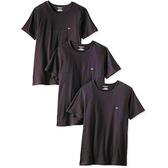 EMPORIO ARMANI- 時尚3件組圓領內衣(黑色)