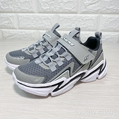 《7+1童鞋》中大童 SKECHERS 403603LGYBK 輕量 運動 跑鞋 C996 灰色