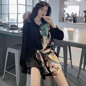 法式赫本風復古山本氣質高冷黑色冷艷御姐成熟襯衫連衣裙子女春款