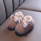 兒童棉拖鞋 兒童男女小孩1-3歲2嬰幼可愛室內毛毛家居保暖包跟寶寶棉拖鞋秋冬 莎瓦迪卡