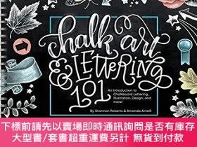 二手書博民逛書店Chalk罕見Art and Lettering 101: An Introduction to Chalkboa