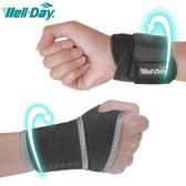 WELL-DAY 晶晏 護腕 連指型 調整型 護手腕 護具 台灣製 0135 肢體裝具