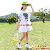 女童裝夏裝洋氣連衣裙2021年新款韓版大童兒童裝夏款網紅女孩裙子【齊心88】