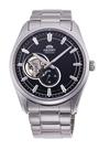 [Y21潮流精品] 新款!ORIENT 東方錶 SEMI-SKELETON系列 機械錶 鋼帶款 黑色-40.8mm RA-AR0002B