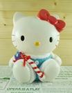 【震撼精品百貨】Hello Kitty 凱蒂貓~塑膠造型存錢筒~聖誕藍