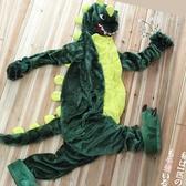 睡衣 恐龍連體女卡通動漫情侶加厚動物毛茸茸秋冬季可愛成年珊瑚絨 - 古梵希
