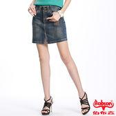 BOBSON 女款車縫線牛仔短裙(D073-53)