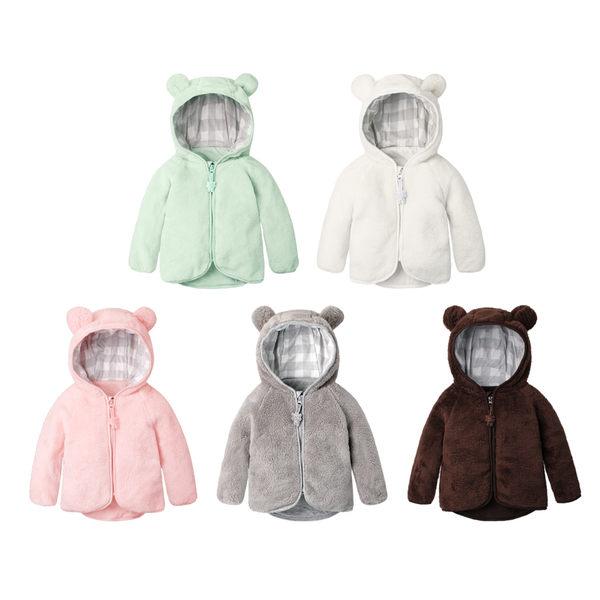 baby外套 小熊造型絨毛外套 嬰兒外套 男寶寶 女寶寶外套 70006