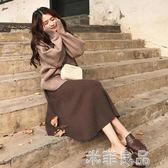 港味學生社會bf淑女甜美可愛少女毛衣加搭配裙子兩件套裝女 『米菲良品』