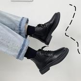 靴子馬丁靴女顯腳小年新款百搭小短靴平底英倫風黑色女靴子潮秋鞋