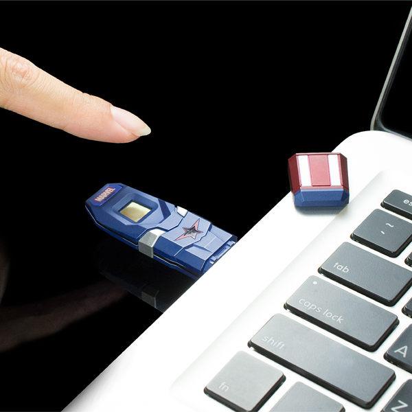 達墨 TOPMORE 漫威系列指紋辨識碟(鋼鐵人) USB3.0 64GB