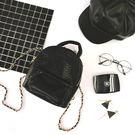 鍊條包 後背包 TOOKI & CO【Z416017】小香風皮質/金屬鍊條兩用可換背帶設計迷你後背包-Prime