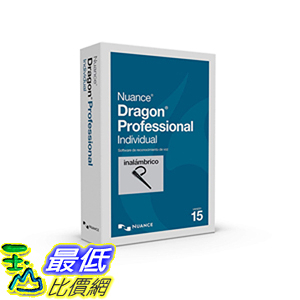 [8美國直購] 暢銷軟體 Dragon Professional Individual 15, Spanish, Wireless