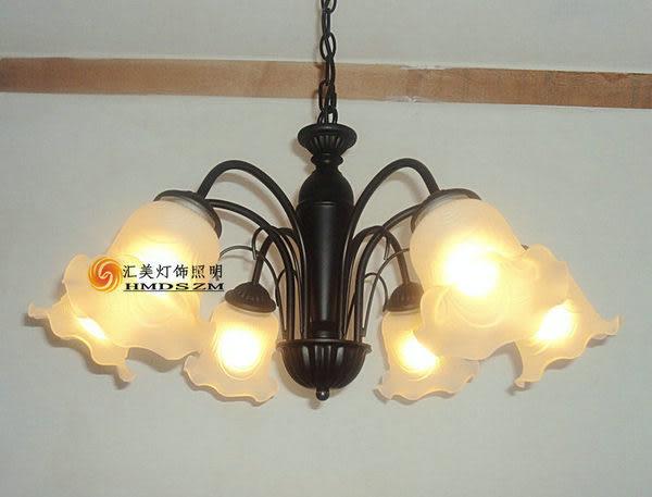 設計師美術精品館北歐美式鄉村 歐式簡約6頭臥室 客廳 吊燈