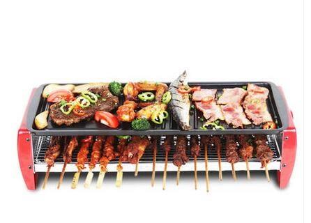 幸福居*Techwood燒烤爐家用電烤爐無煙烤肉機電烤盤鐵板燒烤肉鍋(首圖款)