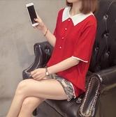 大碼衣著上衣針織衫寬鬆中大尺碼XL-4XL寬鬆冰絲短袖T卹減齡打底針織衫2F060-2106.依品國際