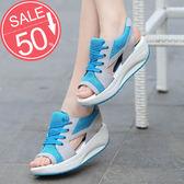 丁果、搖搖鞋35-40►輕巧透氣網布鏤空涼鞋*3色