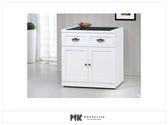 【MK億騰傢俱】ES705-02綺雅娜白色3尺碗盤櫃下座