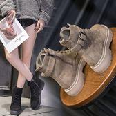 (交換禮物 聖誕)尾牙 馬丁靴女新款春秋冬季英倫風學生ins韓版百搭chic短筒短靴子