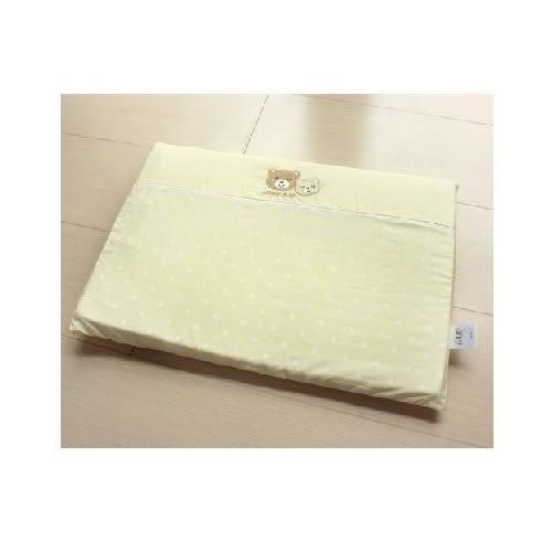 GMP Baby 雙熊繡花乳膠平枕 (附枕套)(米色) 490元 【現貨3組 】