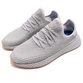 adidas 休閒慢跑鞋 Deerupt Runner 灰 網格設計 舒適中底 復古外型 男鞋 運動鞋【PUMP306】 CQ2628