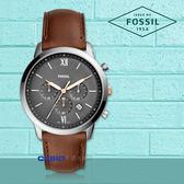 FOSSIL 手錶專賣店   FS5408 時尚三眼男錶 皮革錶帶 深灰色錶面 日期顯示 計時功能