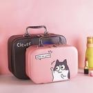 化妝包小號便攜韓國簡約可愛少女心收納方袋多功能大容量手提品箱