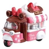 〔小禮堂〕迪士尼 米妮 TOMICA小汽車《粉白.餐車》 4904810-89436