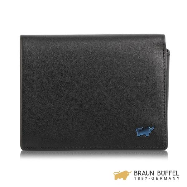 【BRAUN BUFFEL】NEWNOMAD 新游牧族系列9卡左上翻皮夾 - 黑色 BF342-333-BK