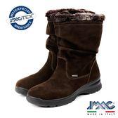 【IMAC】義大利進口磨砂皮革毛飾氣墊女靴/中筒靴  深咖啡(208029-DBR)