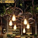 吊燈懷舊創意個性餐廳網咖鐵藝酒吧咖啡廳車...